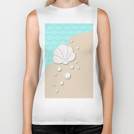 Seashell by the Seashore Biker Tank