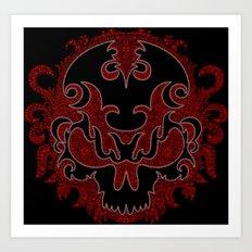 Killer Skull Red Art Print