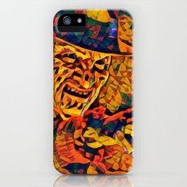 A Nightmare Elm Street Freddy Krueger Angry Artistic Illustration Evil Shapes Style iPhone Case