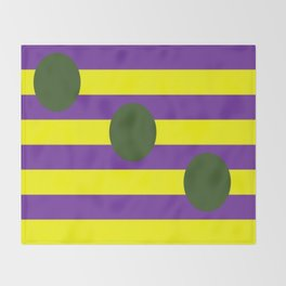 Circles and Stripes Throw Blanket
