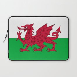 Flag of Wales - Hi Quality Authentic version Laptop Sleeve