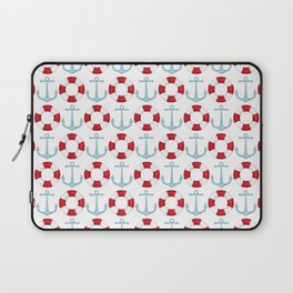 Anchors And Buoys Pattern Laptop Sleeve