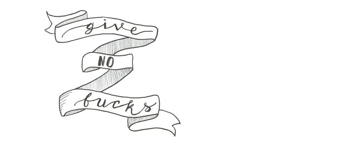 Give no fucks mantra hand lettered banner Coffee Mug
