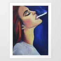 lana del rey Art Prints featuring Lana by Rebecca Jennings