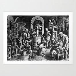 Alchemical Laboratory Art Print