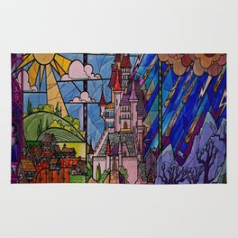 Castle Stained Glass Rug