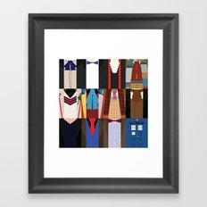 The Doctors - Doctor Who & TARDIS Framed Art Print