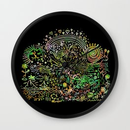 DoodleLand Two...Over the Rainbow Wall Clock