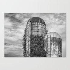 Abandoned Silos Canvas Print