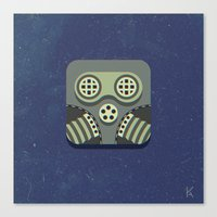 steam punk Canvas Prints featuring Steam Punk Mask by Nick Kumbari