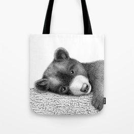 Sleepy bear Tote Bag