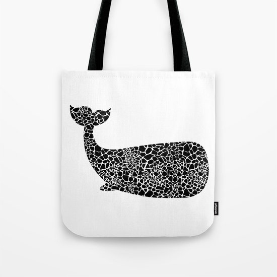 Whale with giraffe pattern Tote Bag