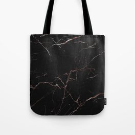 black and rose gold marble Tote Bag