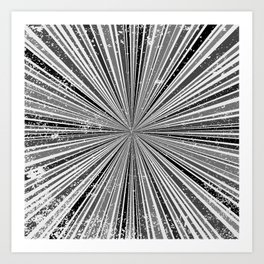 Black And White Rays Background Art Print