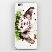 panda iPhone & iPod Skins featuring Panda by Anna Shell