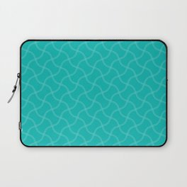 Aqua Blue Wimbledon Tennis Ball Repeating Pattern Laptop Sleeve