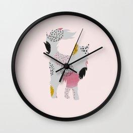 Colorful Kitten Wall Clock