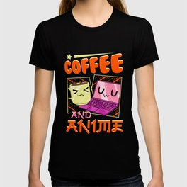 Cute & Funny Coffee And Anime Kawaii Coffee Cup T-shirt