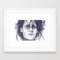 eddie vedder Framed Art Prints featuring Eddie by ShayMacMorran