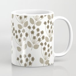 Botanical Sprays in Brown and Tan Coffee Mug