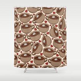 Hot Chocolate Love Shower Curtain