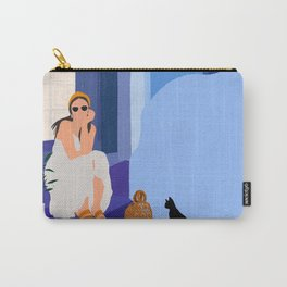 Marrakesh Blue City Carry-All Pouch