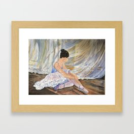 Artistic pose Framed Art Print