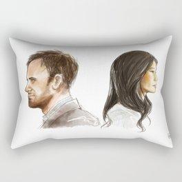 elementary: better half [2] Rectangular Pillow