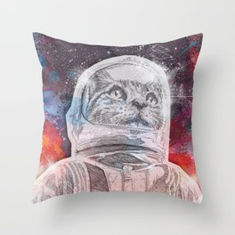 Space_Cat Throw Pillow