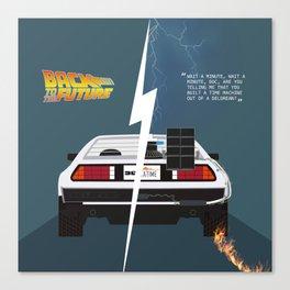 Back to the future / Delorean DMC-12 Canvas Print