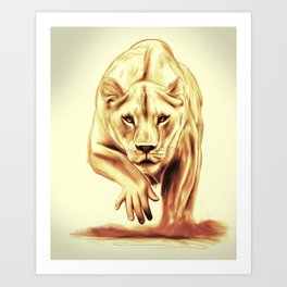 Hunting gently Art Print