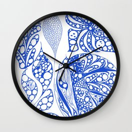 My blue doodle Wall Clock