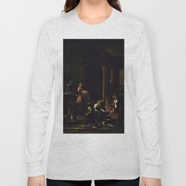 American Masterpiece 'Brownstone Front Stoop - New York' by Artist Unknown Long Sleeve T-shirt
