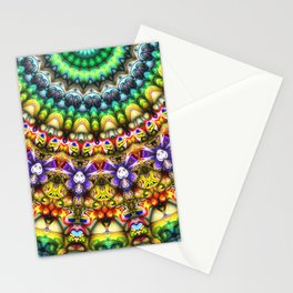 Colorful 3D Abstract Sun Stationery Cards