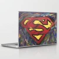 man of steel Laptop & iPad Skins featuring Man of Steel by Jason L Cohen Fine Art