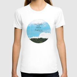 Live Simply T-shirt