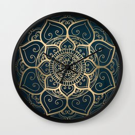 Mandala Night Blue Wall Clock
