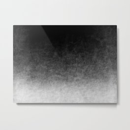 B&W Cloud Atmosphere Metal Print