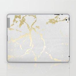 Kintsugi Ceramic Gold on Lunar Gray Laptop & iPad Skin