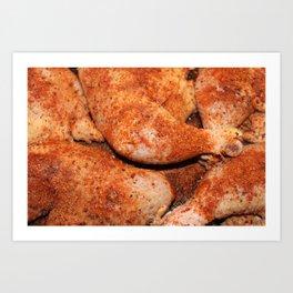BBQ Chicken Art Print