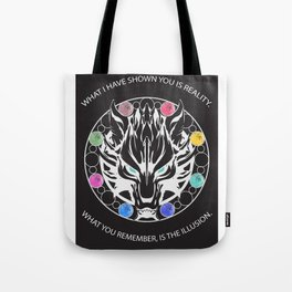 Silver Fenrir with Materia Tote Bag