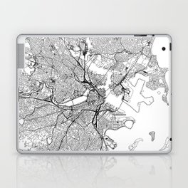 Boston White Map Laptop & iPad Skin