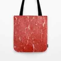 nietzsche Tote Bags featuring Carnivore by pixel404