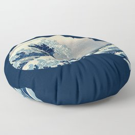 Hokusai Great Wave in My Head Floor Pillow