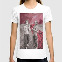 hippy T-shirts featuring Hippy Girls X Roses by LittleCarmine