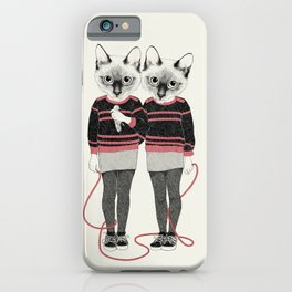 siamese twins iPhone Case