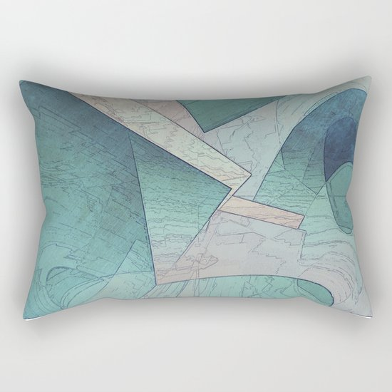 Pastel Abstract Shapes Rectangular Pillow