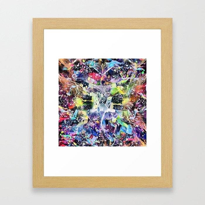 Crow's Paintbrush Framed Art Print