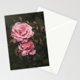 Pink Rose Garden Stationery Cards