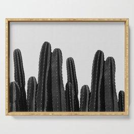 Cactus Black & White Serving Tray